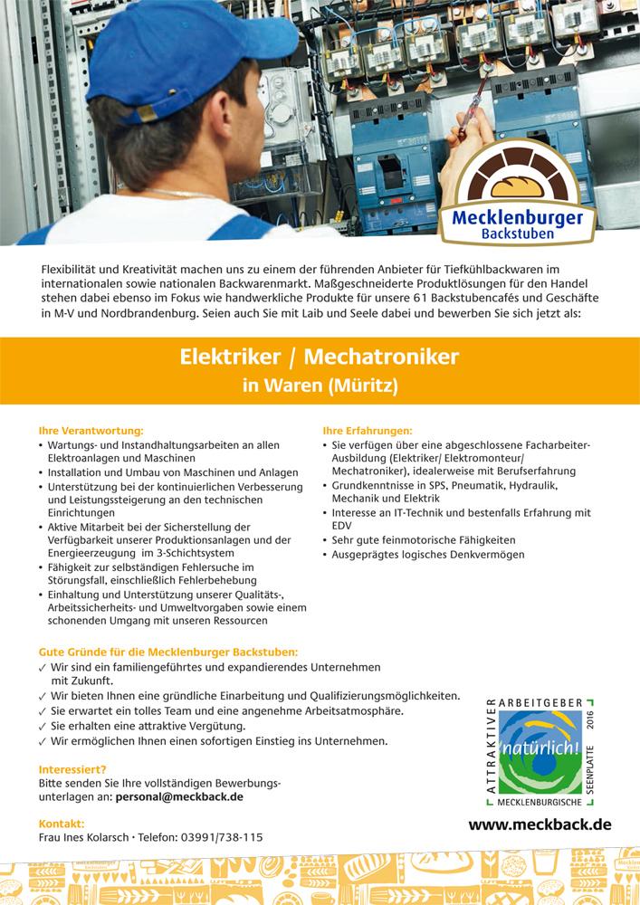 Freier Elektriker und Mechatroniker in Waren (Müritz) - Müritzportal